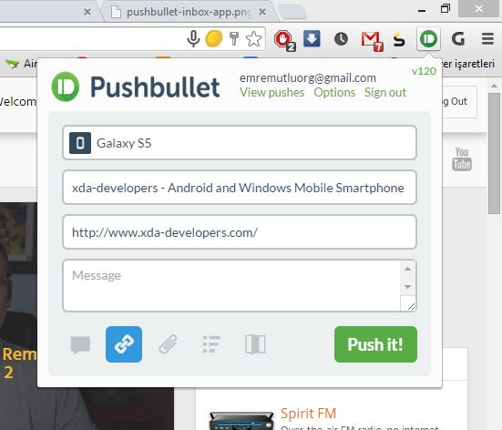 Pushbulletchrome