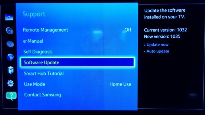 SamsungSmartTVSupportSoftwareUpdate